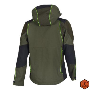 Giacca shoftshell u-tex verde fluo-2